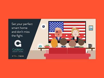 ADV  smarthome brand adv spot president hillary trump us advertising