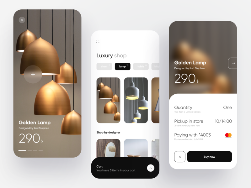 Luxury e-commerce dribbble luxury creative minimal dashboad payment checkout card ecommerce ios flat idea design app ux ui