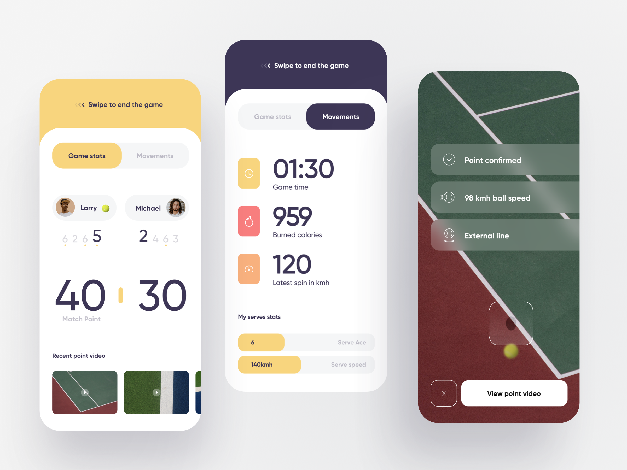 Tennis tracking app