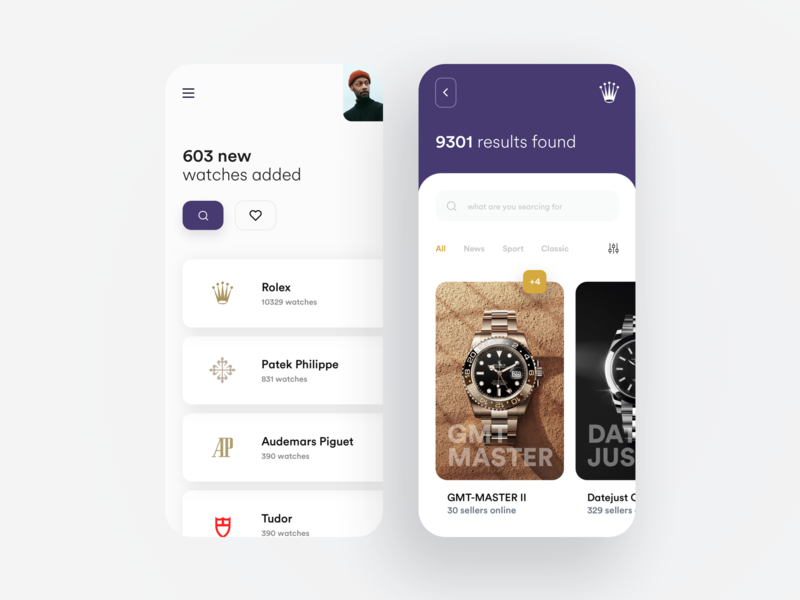 Watch retail app card selling ecommerce watch dribbble concept idea ios minimal material flat dashboard app color design ux ui