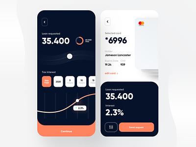 Loan App (free Sketch file) freebie free uikit kit dribbble banking card visual loan bank concept flat creative minimal dashboard ios design app ux ui