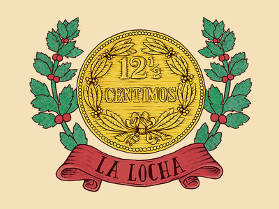 La Locha coin money venezolan venezuela locha photoshop illustration