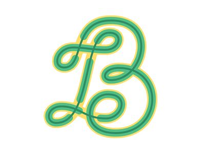 B | 36 Days of Type b typegang typography design vector typo type letters lettering letter 36dayoftype