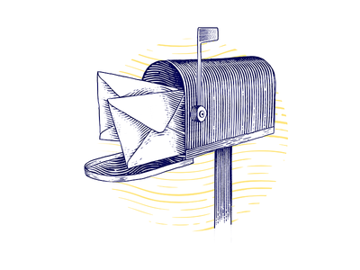 Mail | engraving illustration