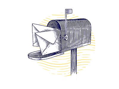 Mail | engraving illustration mail mailbox icon engrave etching ecthed ecth engraving engraved vector photoshop illustration
