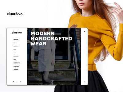 CLOOKVA Online Store dress wear website design web design website web design ui