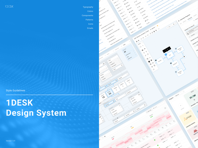 1Desk Design System styleguide style guides design system ui kit design ui