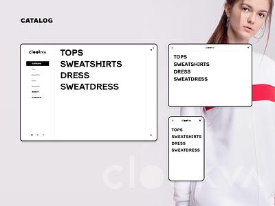 C L O O K V A catalog clookva dress wear website site design ui