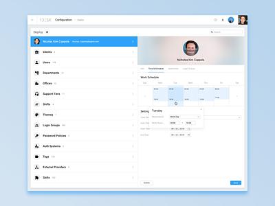 Deploy settings schedule profile interface ui