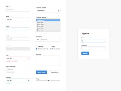 Free form design UI  • NextUX ui kit ui freebie free forms form