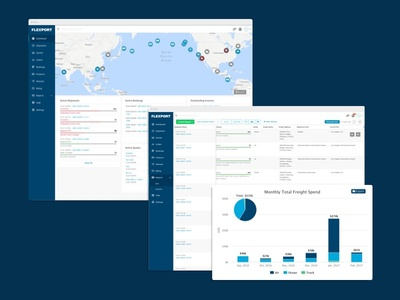 Global Logistics Dashboard ui web app dashboard logistics