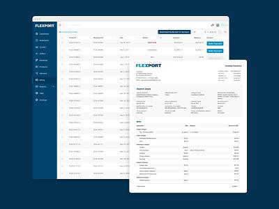 Billing web logistics app