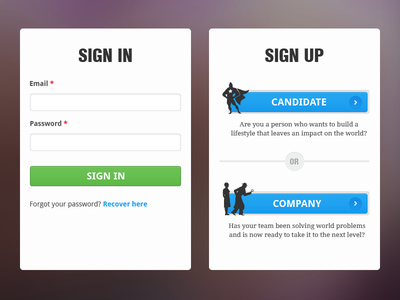 Sign in, Sign up page UI elements sign in sign up clean ui minimal design portal