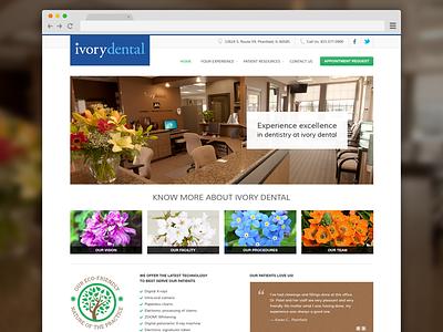ivory dental simple clean homepage website dental clinic