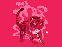 Sometimes my spirit animal is an insanely pink tiger