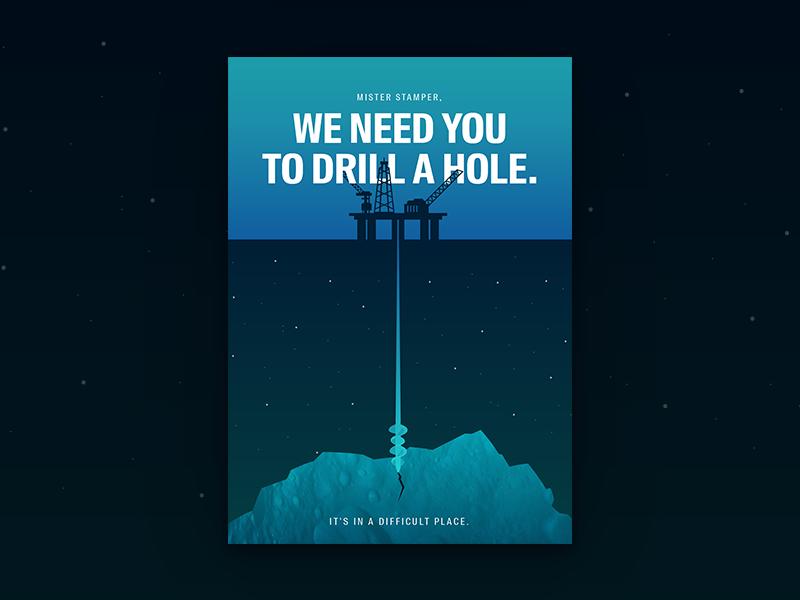 Minimal movie posters #2 - Armageddon awesome willis bruce armageddon asteroid gradient poster movie minimal