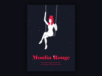 Minimal movie posters #5 - Moulin Rouge