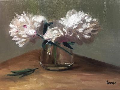 Yvette's oil painting - 粉白黛绿