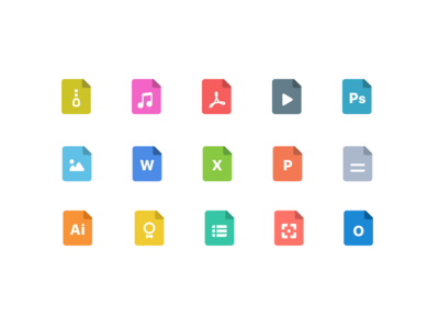 File Type Icon Set design for Citrix Secure Mail