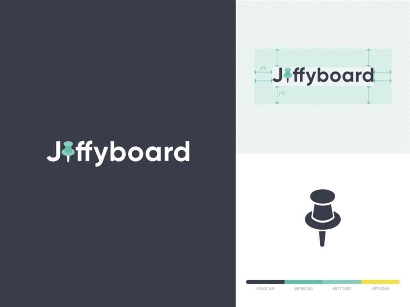 Jiffyboard Logo Design logomark logos identity brand logo designs logotype board pin logo design logo mark notice board notice icon illustration clean typography vector branding logo design