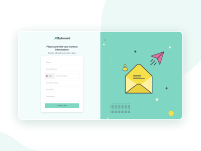 Enquiry form/Contact me page design contacts userinterface webdesign contact page contact me form enquiry contact form contact us contact minimal landing page illustration web website ux clean interface ui design