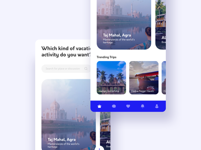 Plan & book your mutual vacation travelling discussion activity explore places animation vacations app book mutual vacation trip plan vacation visual design mobile ux interface clean ui design