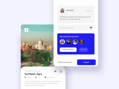 Place details screen comment detail details page discussion cleanui minimal experience interface trip visual design vacation plan vacation travel app travel app design ux clean activity ui design
