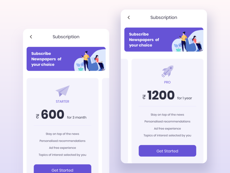 Premium subscription plan screen cleanui mobile app design mobile app mobile ui pricing table price list subscribe pricing pricing plan plans subscription branding animation visual design illustration ux interface ui clean design