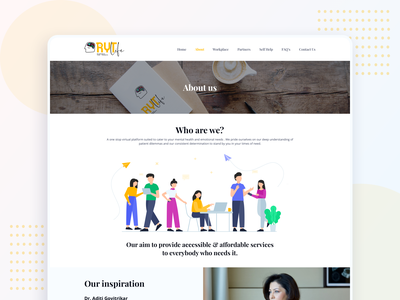 RYT.life - About Us page health care health who we are about about us page website design mental wellness mental health illustration website web ux ui interface clean design uidesign branding graphic design
