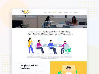 RYT.life - Workplace page enquiry wellness benefits corporate workplace health well being mental health graphic design branding logo illustration website web ux interface ui clean design