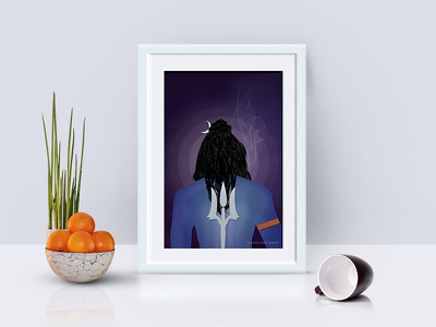 Lord Shiva | illustrations book cover book graphics illustrations creative lordshiva frame creative shiv photoframe