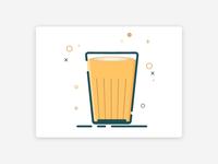 Tea Glass Illustrated Icon design.