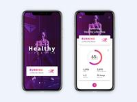 Health & Fitness App UI Exploration