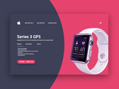 Series 3 Apple watch cart page design lowprofile product shopping website web watch ui typography navigation layout design cart