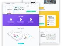 Website design for financial advisory company
