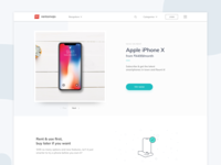 Mobile phone landing page