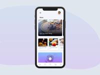 Food app UI exploration