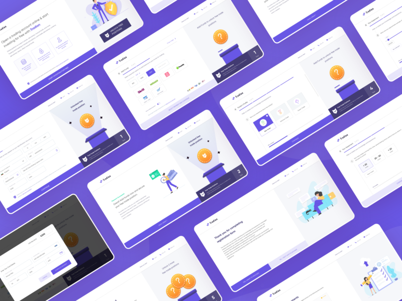 Tradion - KYC process of the user to start the risk free trade webdesign profile stockmarket visual design userinterface uiuxdesign uidesign uiux trading trade minimal animation landing page website ux clean interface ui design kyc