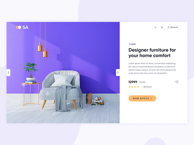 Furniture shop website user interface furniture store transition interaction ecommerce shop home motion design modern purchase product animation product detail ecommerce furniture web website clean interface ui design