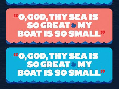 That Big Sea biden bold jfk sans serif quote geometry texture type design typography illustration