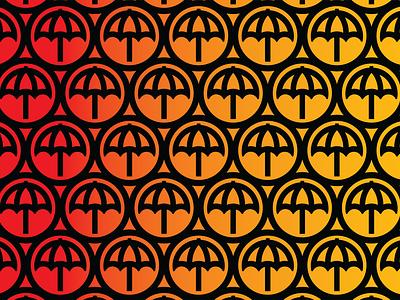 Warm Umbrella Gradient midnight circles geometry gradient umbrella branding design logo illustration