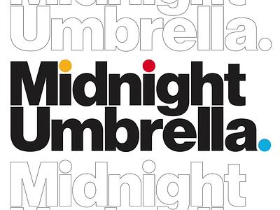 Jaunty Midnight Umbrella neue haas grotesk sans identity branding and identity branding logo video circles geometry typography design illustration