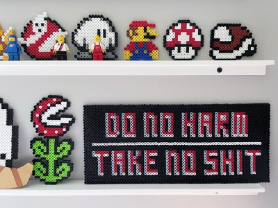 Do No Harm graphicdesign type designer hobby crafts crafting signage signs fortune favors the kind vernacular modular type typography type design maxim saying manifesto type typogaphy beads