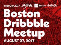 Boston Dribbble Meetup - August 27