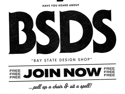 Friendly Bay State Design Shop Propaganda bsds friendship fonts typefaces texture design type community