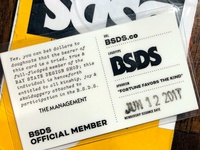 BSDS Membership Cards!