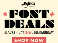 Black Friday Font Deals