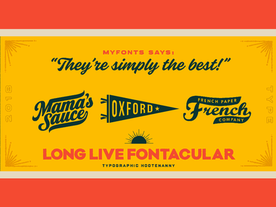 They're Simply the Best french paper oxford pennant mamas sauce myfonts fontacular texture type typography logo