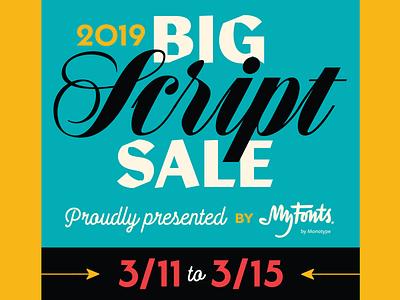 Big Script Sale 2019 graphic  design design arrows myfonts scripts type typography