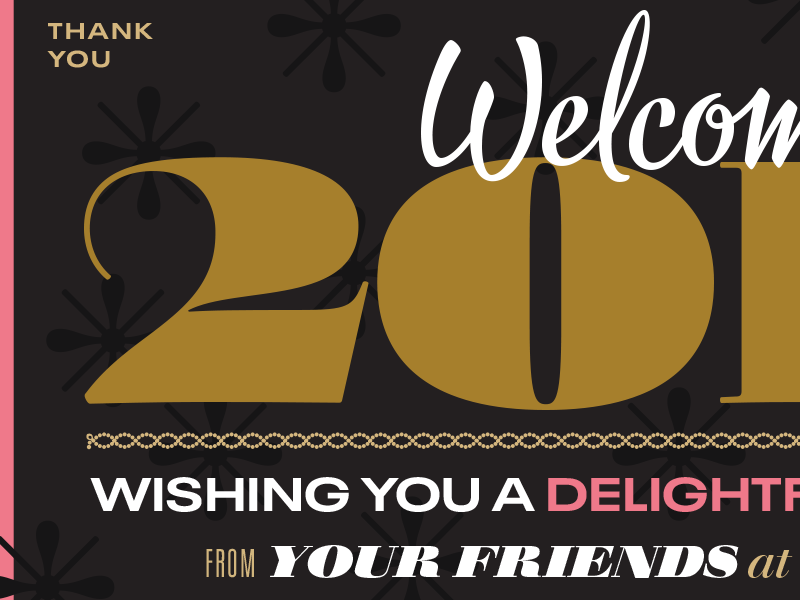 Welcome 2019! serifs walbaum 2019 happy new year myfonts branding type vector design typography illustration